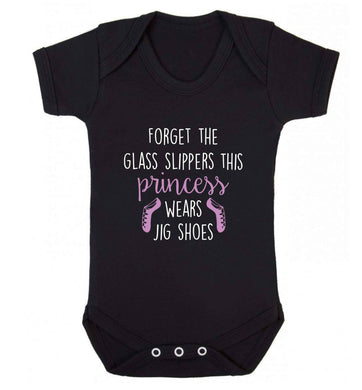 This princess wears jig shoes baby vest black 18-24 months