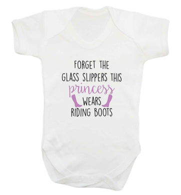 Forget the glass slippers this princess wears riding boots baby vest white 18-24 months