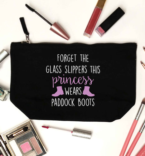 Forget the glass slippers this princess wears paddock boots black makeup bag