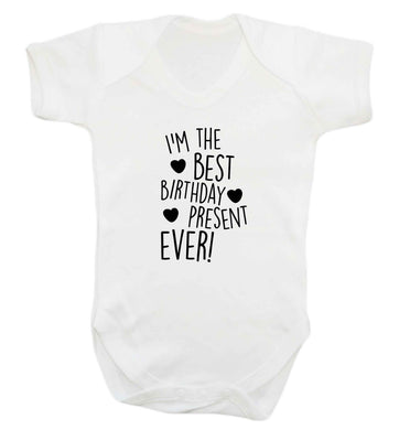 I'm the best birthday present ever baby vest white 18-24 months