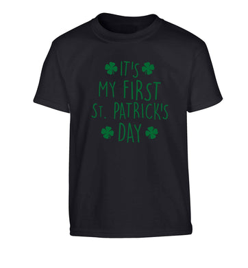 It's my first St.Patrick's day Children's black Tshirt 12-13 Years