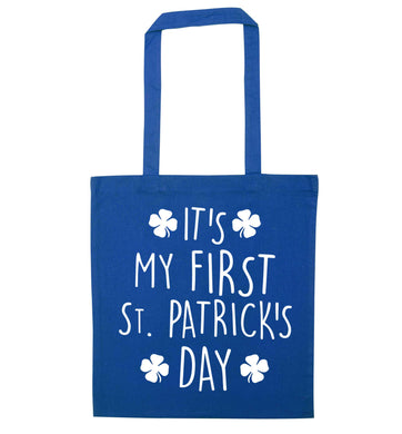 It's my first St.Patrick's day blue tote bag