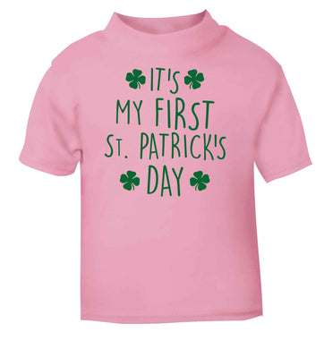 It's my first St.Patrick's day light pink baby toddler Tshirt 2 Years