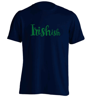Irishish adults unisex navy Tshirt 2XL
