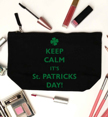 I can't keep calm it's St.Patricks day black makeup bag