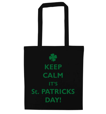 I can't keep calm it's St.Patricks day black tote bag