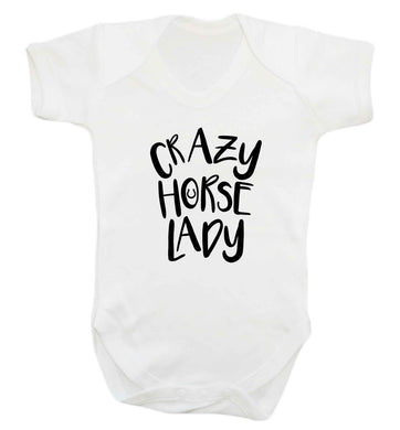 Crazy horse lady baby vest white 18-24 months