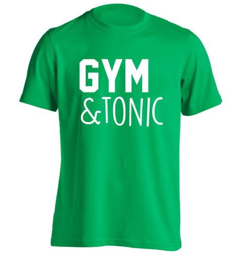 Gym and tonic adults unisex green Tshirt 2XL