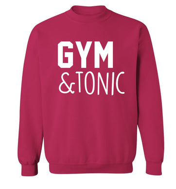 Gym and tonic Adult's unisex pink Sweater 2XL