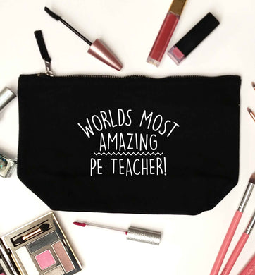 Worlds most amazing PE teacher black makeup bag