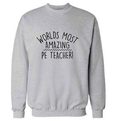 Worlds most amazing PE teacher adult's unisex grey sweater 2XL
