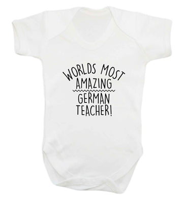 Worlds most amazing German teacher baby vest white 18-24 months