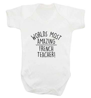 Worlds most amazing French teacher baby vest white 18-24 months
