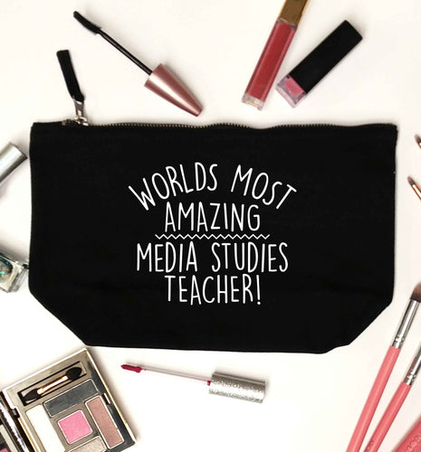 Worlds most amazing media studies teacher black makeup bag