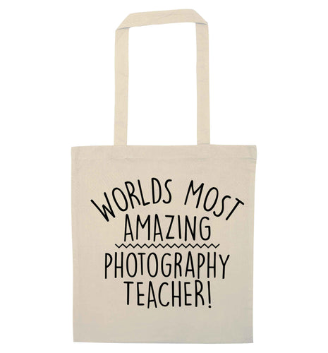 Worlds most amazing photography teacher natural tote bag