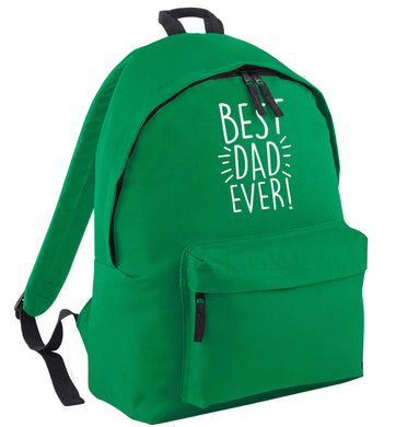 Best dad ever! green adults backpack