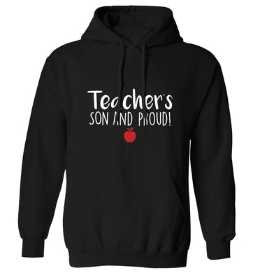 Teachers son and proud adults unisex black hoodie 2XL
