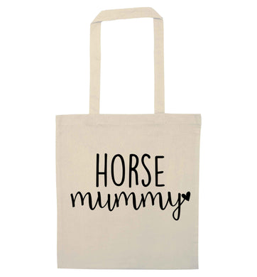 Horse mummy natural tote bag