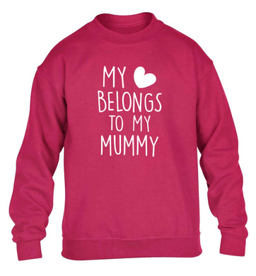 My heart belongs to my mummy children's pink sweater 12-13 Years