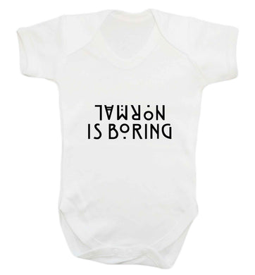 Normal is boring baby vest white 18-24 months