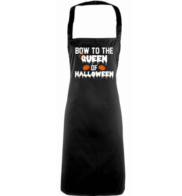 Bow to the Queen of halloween adults black apron