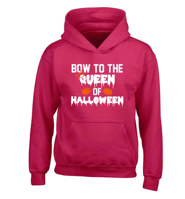 Bow to the Queen of halloween children's pink hoodie 12-13 Years