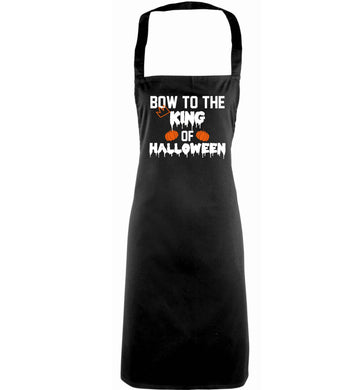 Bow to the King of halloween adults black apron