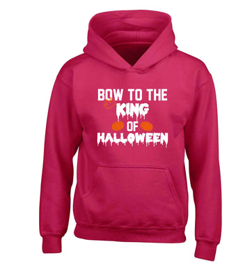 Bow to the King of halloween children's pink hoodie 12-13 Years