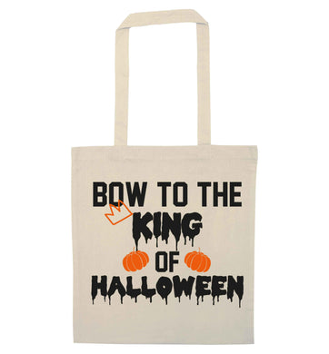 Bow to the King of halloween natural tote bag