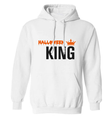 Halloween king adults unisex white hoodie 2XL