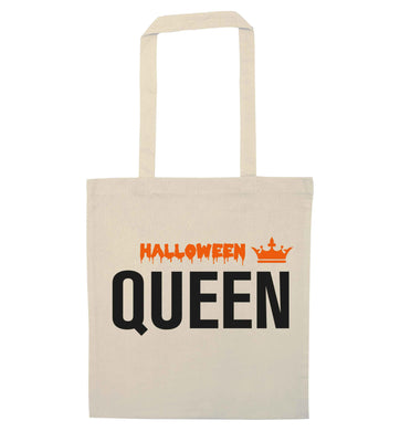 Halloween queen natural tote bag