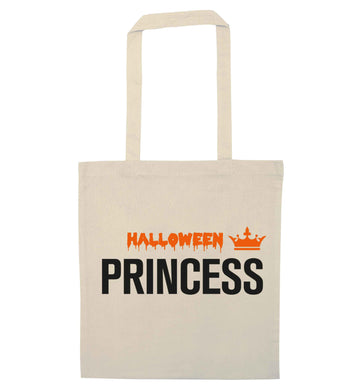 Halloween princess natural tote bag