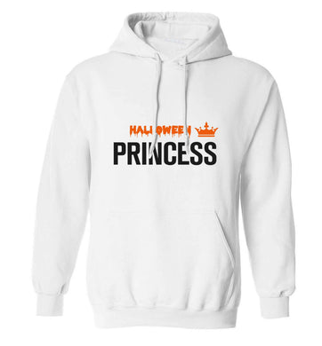 Halloween princess adults unisex white hoodie 2XL