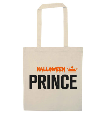 Halloween prince natural tote bag