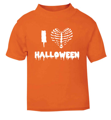 I love halloween orange baby toddler Tshirt 2 Years