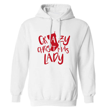 Crazy Christmas Dude adults unisex white hoodie 2XL