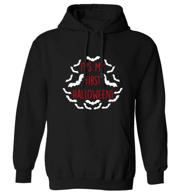 It's my first halloween - bat border adults unisex black hoodie 2XL