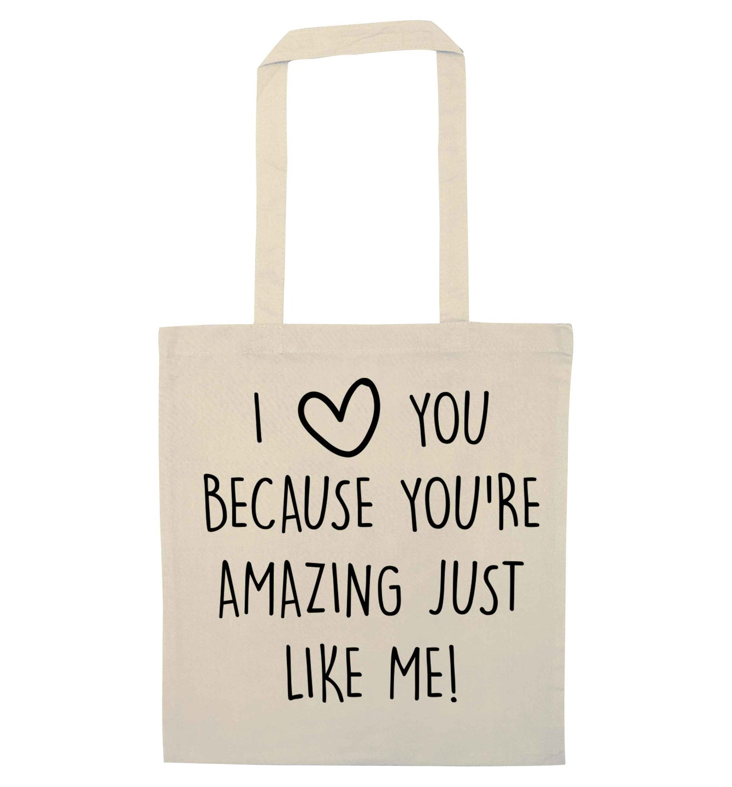 Girlfriend I love you to the moon and back natural tote bag