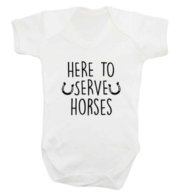 Here to serve horses baby vest white 18-24 months