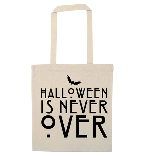 Halloween is never over natural tote bag