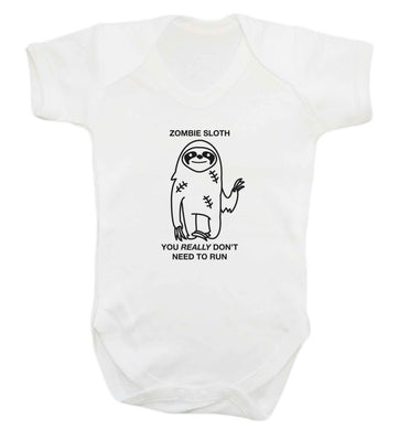 Zombie sloth you really don't need to run baby vest white 18-24 months
