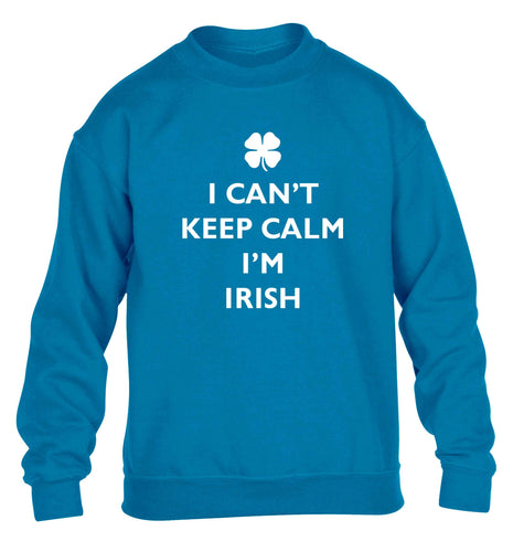 I can't keep calm I'm Irish children's blue sweater 12-13 Years