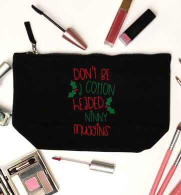 Too Late to be Good black makeup bag