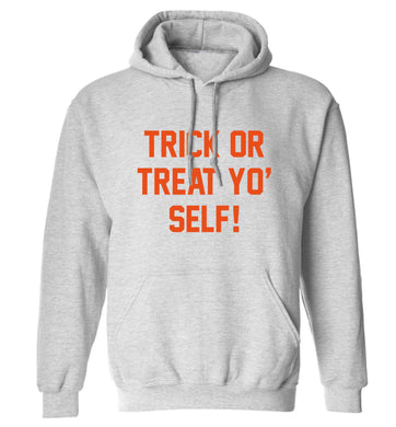 Trick or Treat Yo' Self adults unisex grey hoodie 2XL