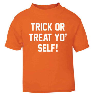 Trick or Treat Yo' Self orange baby toddler Tshirt 2 Years