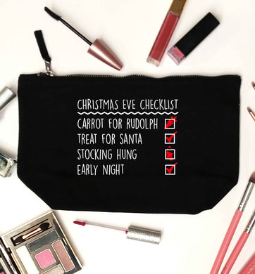 Candy Canes Candy Corns black makeup bag
