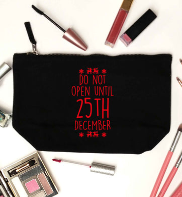 Christmas Eve Checklist black makeup bag