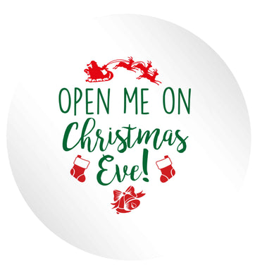 Open me on Christmas Day 24 @ 45mm matt circle stickers