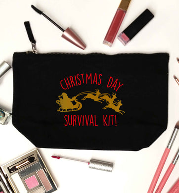 Christmas Day Survival Kitblack makeup bag