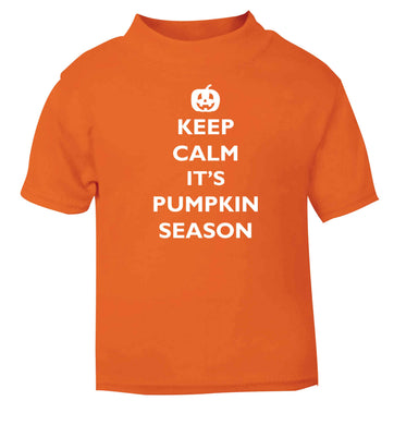 Calm Pumpkin Season orange baby toddler Tshirt 2 Years